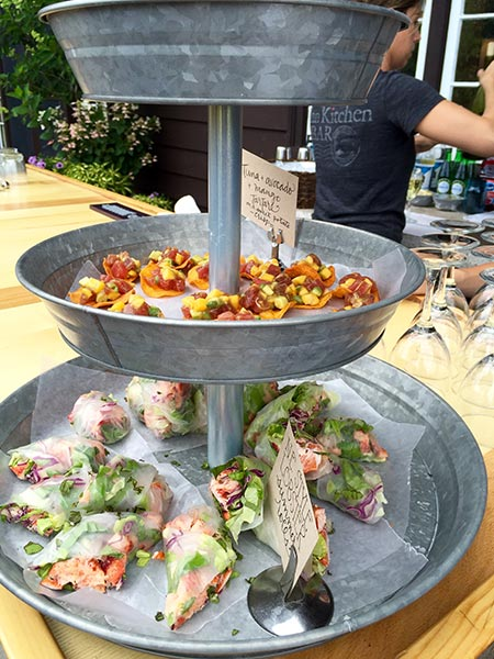 Fresh cuisine by the Squam Lake on-site catering team