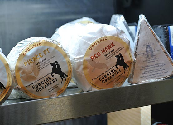 Local cheeses from a grocery near Meredith, NH